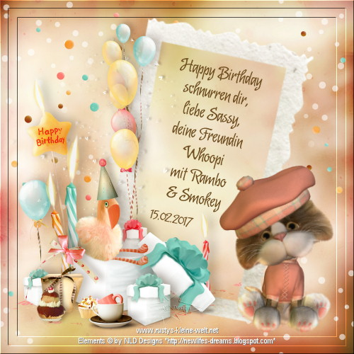 An den Beitrag angehängtes Bild: http://www.rustys-kleine-welt.net/2017_Geschenke/2017_Birthday_Sassy_von-RC.jpg