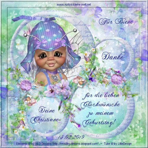 An den Beitrag angehängtes Bild: http://www.rustys-kleine-welt.net/2019_Geschenke/2019_Birthdaydanke_Biene_von-Christiane.jpg